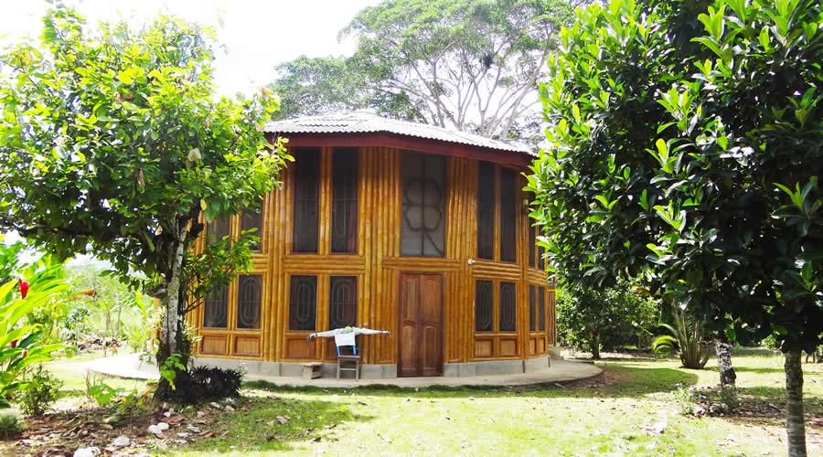 Casa Circular de bambu