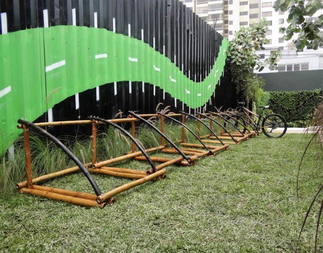 Bici Parqueadero de bambú M1
