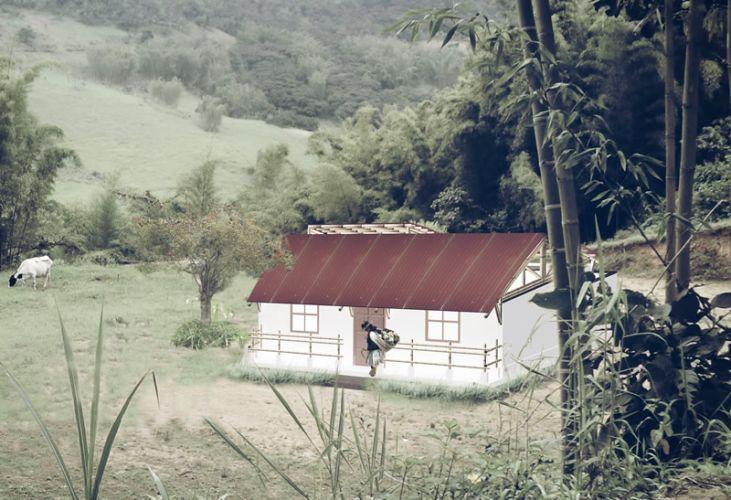 Vivienda de bambu para la Costa Norte