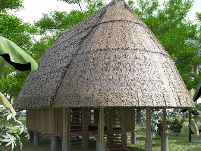 Casa Machiguenga de bambu