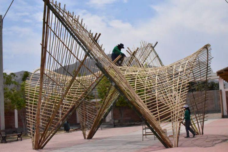 Pabellón Vid de Bambú – Azpitia